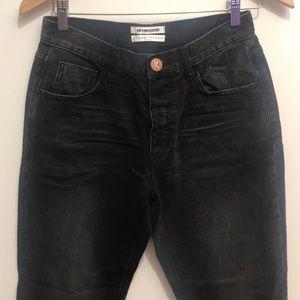 One teaspoon black denim truckers jeans size 26